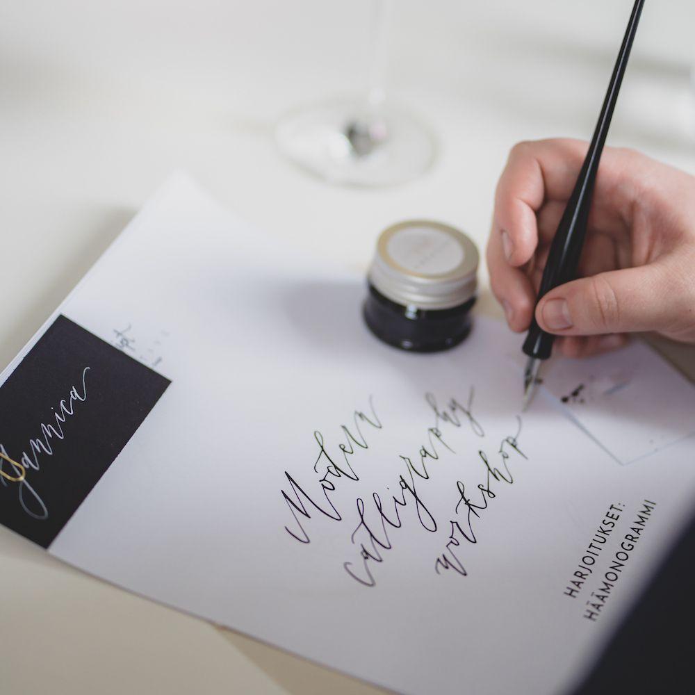 Kalligrafiastudio - Häämessut netissä