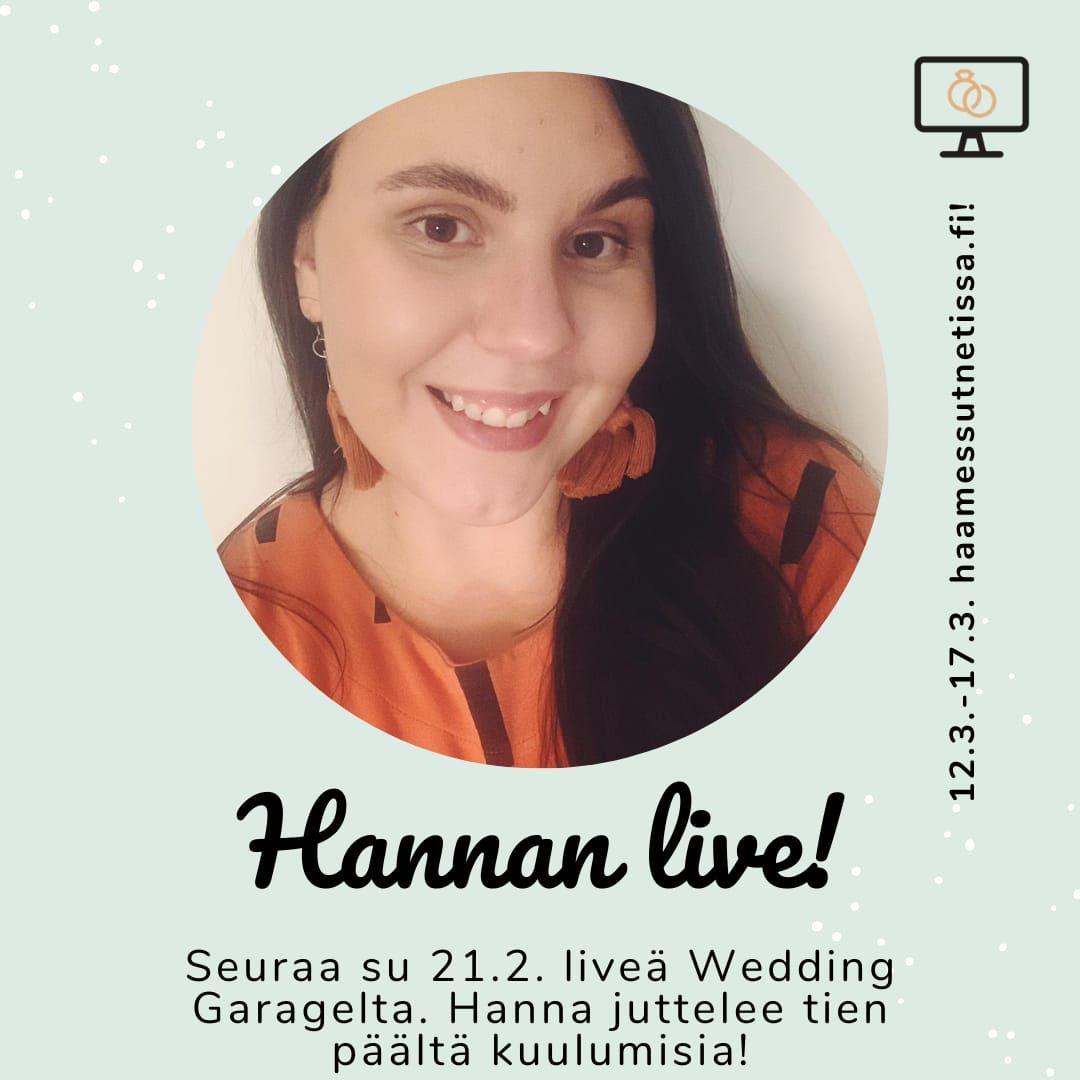 Hannan live Häämessut netissä KEVÄT 2021